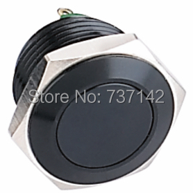ELEWIND Black metal push button(PM161F-10/J/A)