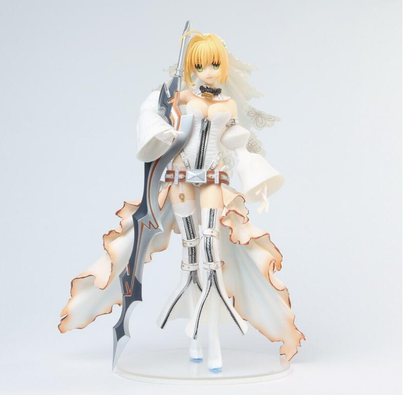 Fate Grand Order EXTRA CCC – Saber Nero Bride Wedding Dress Figure Collectible Model Toys 24cm