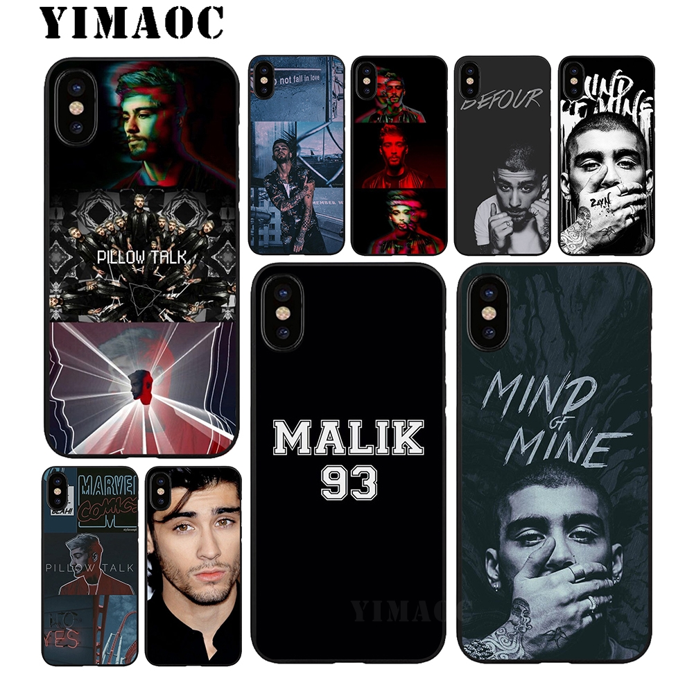 YIMAOC Zayn malik 1D Soft TPU Black Silicone Case for iPhone X or 10 8 7 6 6S Plus 5 5S  ...