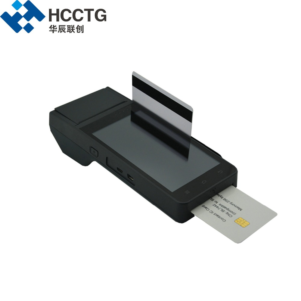 HCC Z90 NFC Mobile Handheld Android POS Terminal With Printer Barcode Scanner Android System