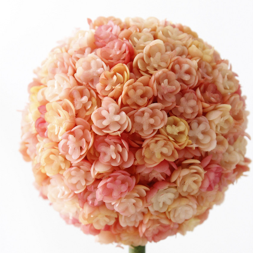1Set Artificial Plant Potted Flower Ball Giant Allium Flower Bonsai for Wedding Home Party Decoration 4 Colors Decorative