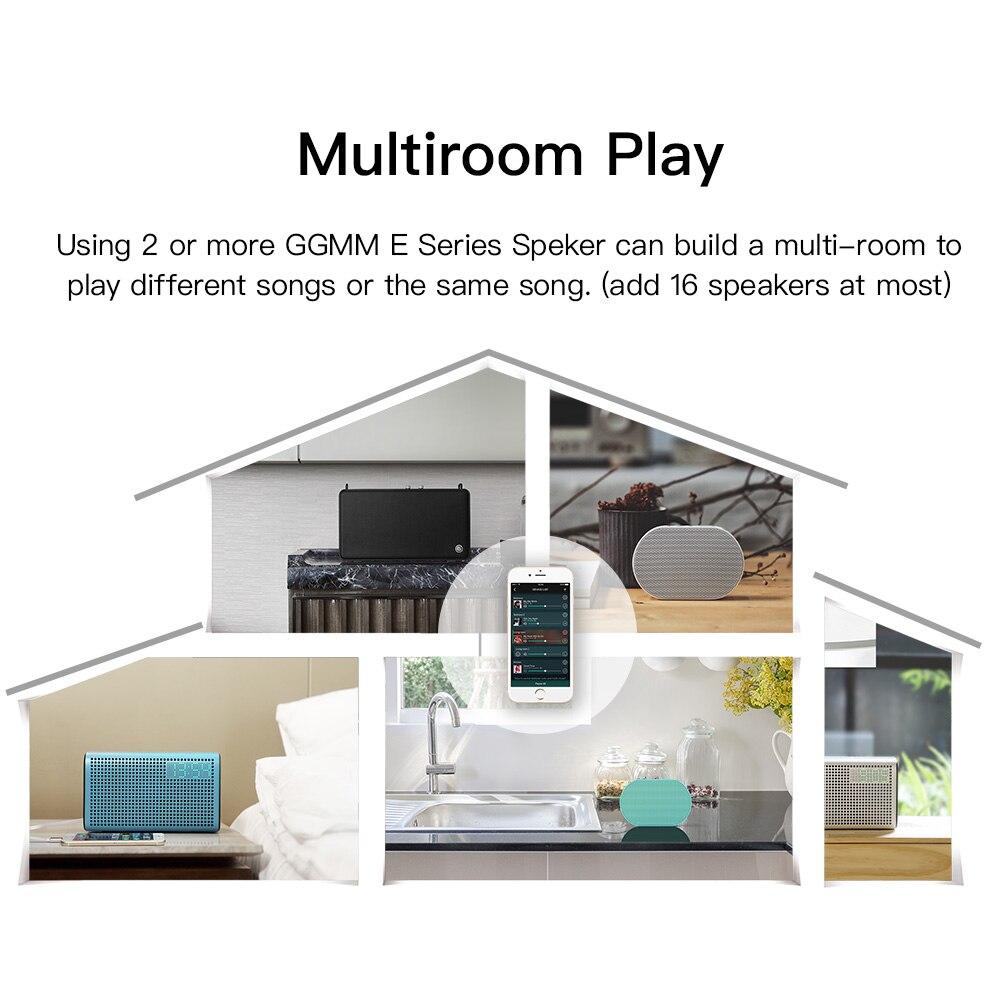 GGMM E2 haut-parleur Bluetooth portable Haut-Parleur WIFI haut-parleur sans fil En Plein Air Altavoz Bluetooth Soundbar caisse de résonance Avec Amazon Alexa - 4