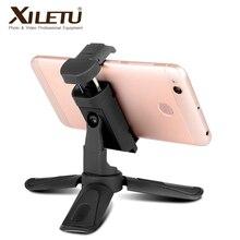 XILETU CD 1 2 en 1 360 Rotation verticale tir Mini trépied support de téléphone pour iPhone Max Xs Samsung S8 S9 Piexl 2 3