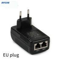 DC12V 1A POE (Мощность Over Ethernet) инжектор 12 Вт штепсельная вилка коммутатор питания через Ethernet для CCTV POE ip-камера Мощность адаптер ЕС/США/AU/UK на выбо...