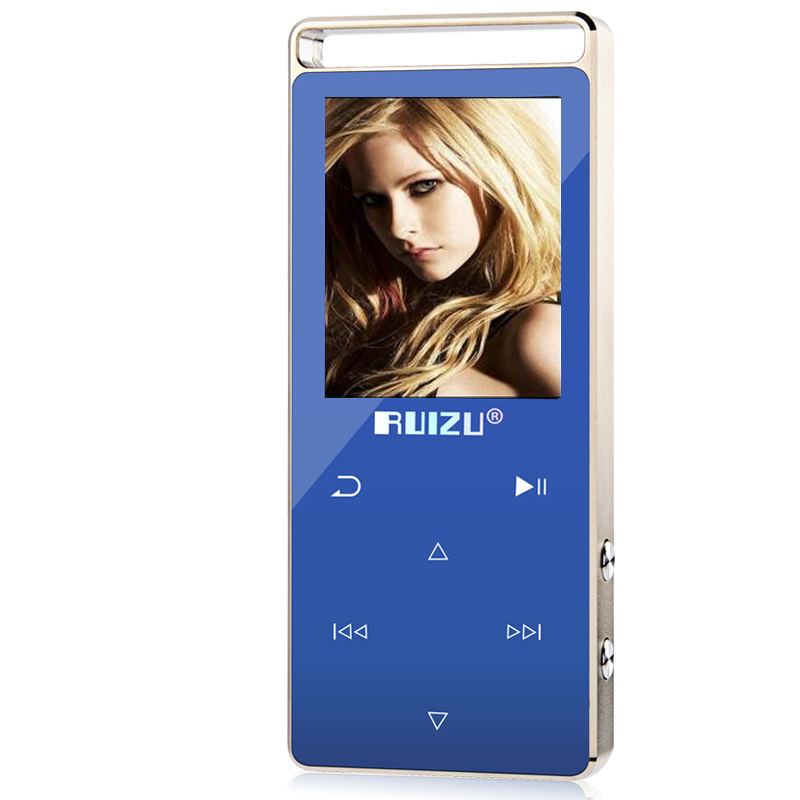 Original RUIZU D01 Metal HIFI Bluetooth MP3 Player Touch Screen 8GB Play 100hours high quality Lossless Sound Music Player