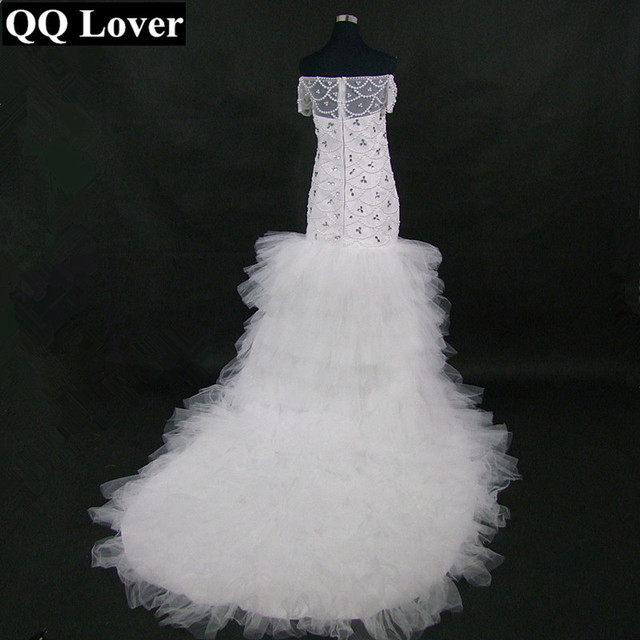4743b1519e QQ Lover 2019 New African Mermaid Wedding Dress Custom Made Plus Size  Luxury Beaded Wedding Gowns