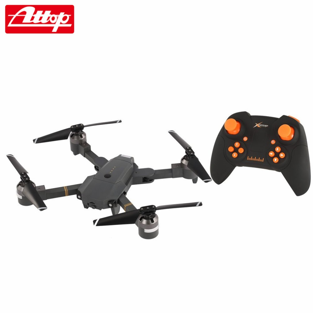 Attop XT-1 2.4G Altitude Hold Mode Foldable Headless 3D Flip Roll One Key Takeoff/Landing Speed Switch RC Quadcopter hz attop xt 1 wifi 2 4g fpv drone camera 3d flip altitude hold foldable one key take off landing headless mode rc quadcopter