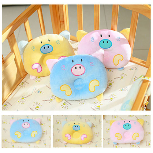 Cartoon Pig Baby Pillow And Anti Roll Toddler Sleep Positioner For Infant Head Protection