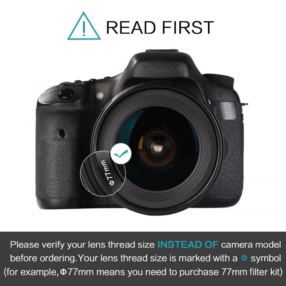 K&F CONCEPT Slim ND2-400 Neytral Sıxlıq Fader Dəyişən ND Filter - Kamera və foto - Fotoqrafiya 3