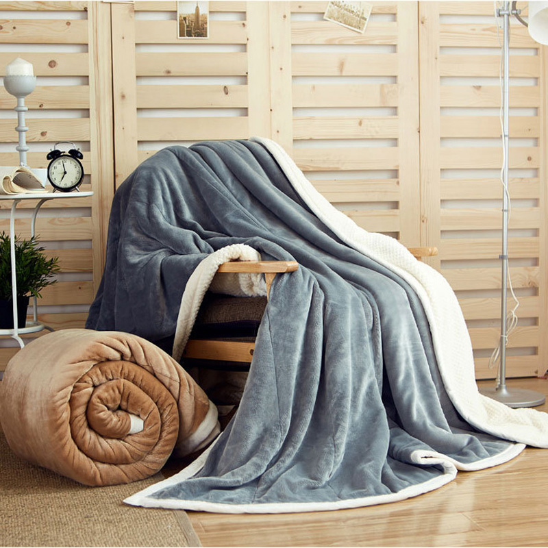 Throw blanket for sofa plaid bedspreads cotton fleece blanket baby soft plaid fluffy plush bed cover winter blankets for beds zhh warm soft fleece strip blankets double layer thick plush throw on sofa bed plane plaids solid bedspreads home textile 1pc