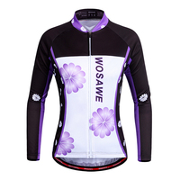 Cycling Jersey Women Long Sleeve Bicycle Clothing Breathable Moutain Riding Bike Jersey Autumn Quick Dry Cycling Jersey