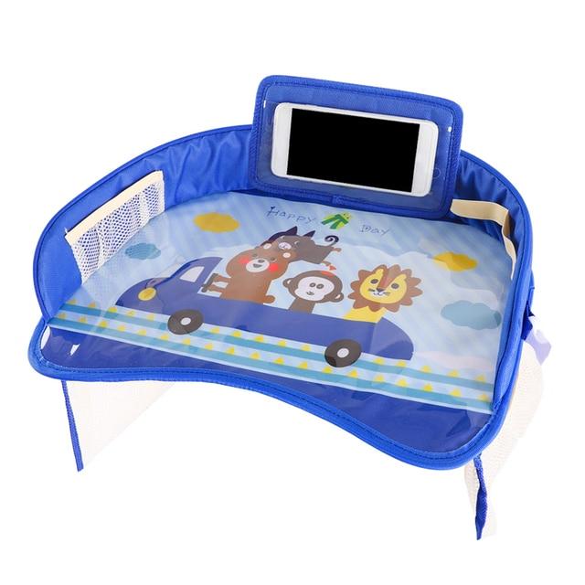 Auto Child Seat Storage Mat Oxford Kid Adjustable Food Milk Drink Organizer Stowing Tidying Phone Holder Interior Accessories 3