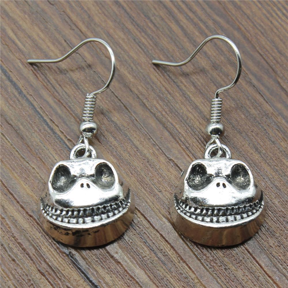 Cute Big Mouth Skull 17x15x7mm Charm Dangle Earring For Women Charming Drop Earring Dropship Suppliers