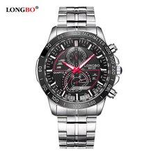Mens montres haut marque de luxe militaire montres pour hommes sport horloge hommes de mode marque relogio masculino LONGBO Quartz En Acier Montre