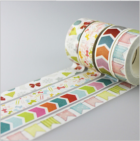 1.5CM Wide Colorful Direction Mark Washi Tape DIY Scrapbooking Sticker Label Masking Tape School Office Supply