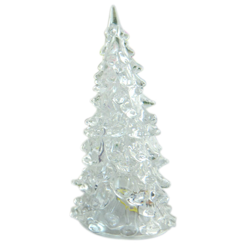 Acrylic Christmas Tree LED Lights Discolour Christmas Lamp For Holidays Accessories JA55