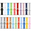 38/42mm caramelo de goma del silicio original conector integrado deportes ocasionales iwatch correa de la venda de reloj pulsera para apple watch i62.