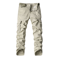 2018 MISNIKI New Arrivals Cotton Men Cargo Pants Camouflage Military Army Work Multiple Pockets Overalls Dropshipping AXP104