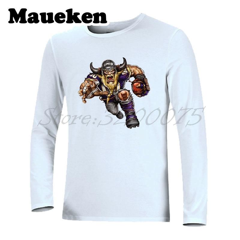 6d43b8f28 Aliexpress.com   Buy Men Long Sleeve Strong Minnesota Autumn Winter T Shirt  Clothes T Shirt for Vicious Viking fans Comic Cartoon Men s W18010120 from  ...