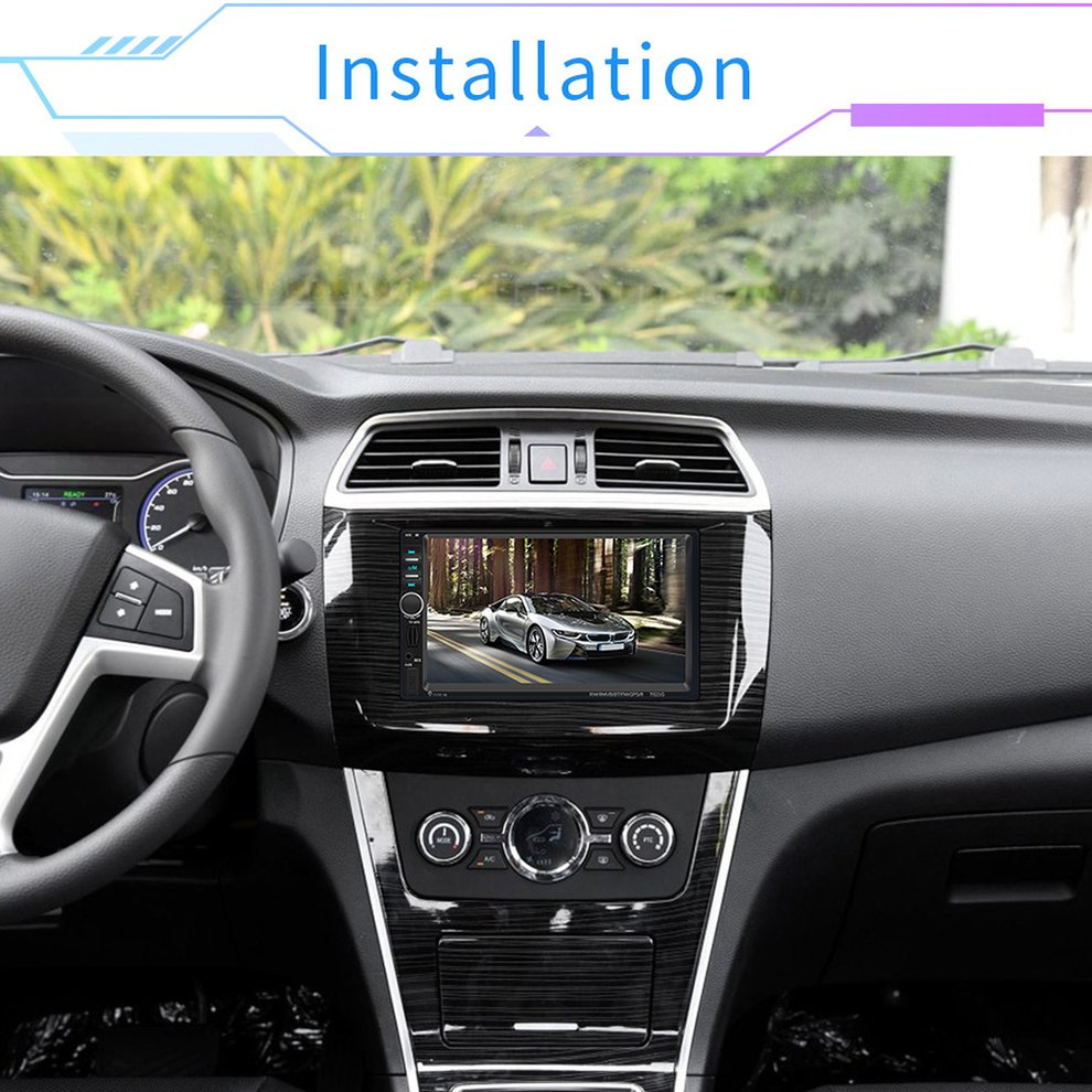 <font><b>7021G</b></font> 7 inch TFT MP5 player GPS navigation reversing Monitor multimedia player Car Aid Accessories image