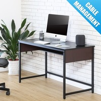 FITUEYES 47 Computer Desk Laptop Table Home Office Study Writing Desk Wood & Metal