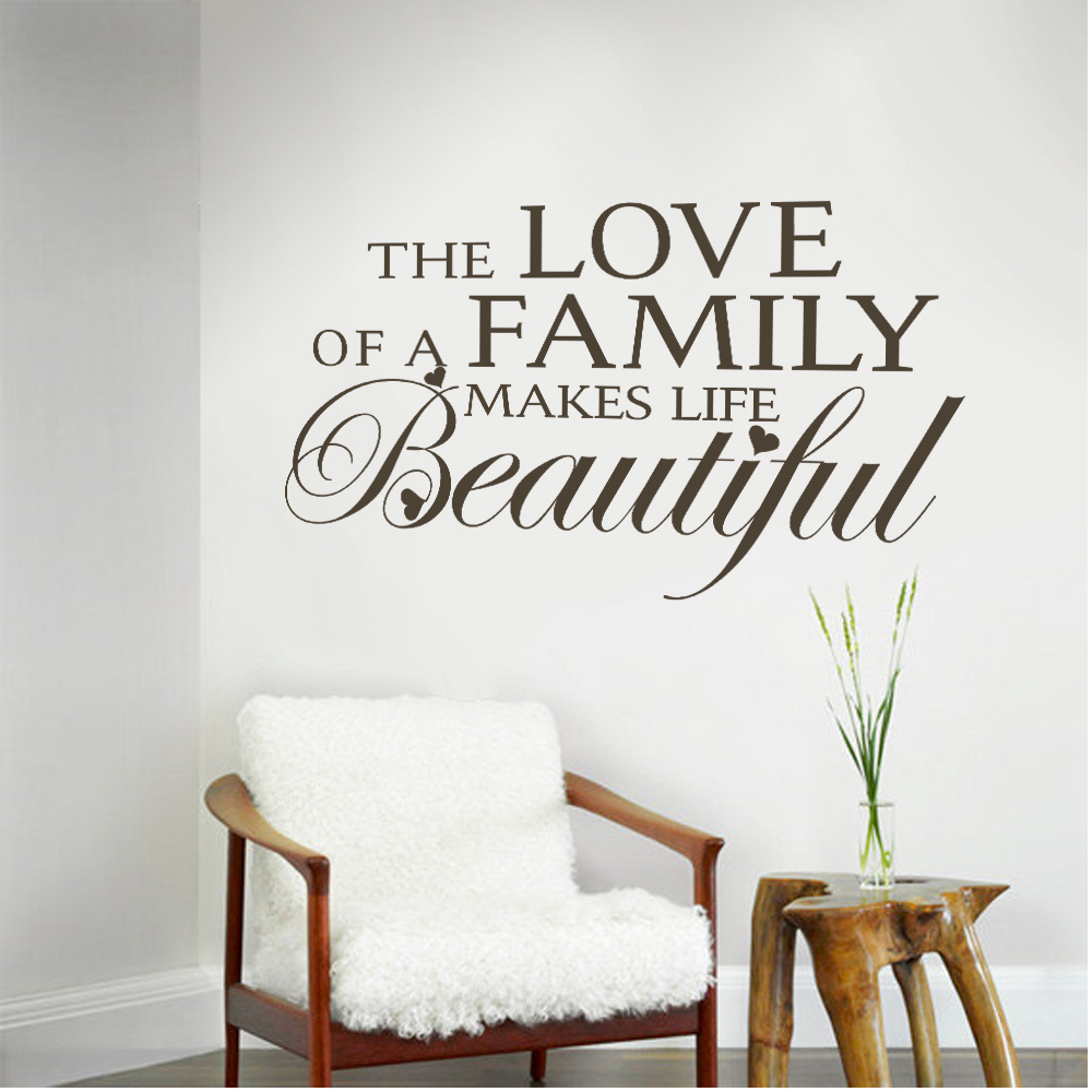 Love Life Family Quotes Family Quotes The Love Of A Family Makes Life Beautiful Love Vinyl