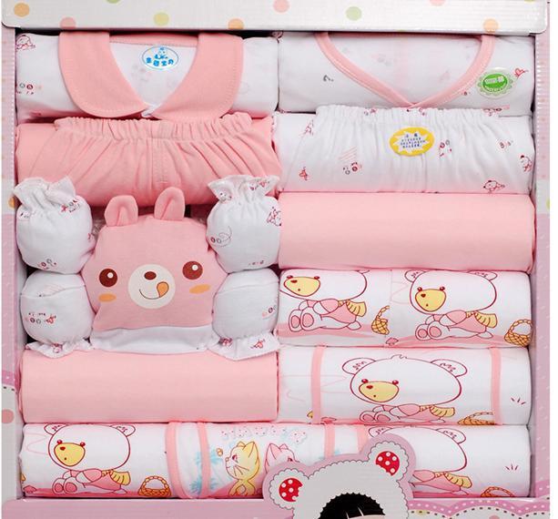 Hot sales 100% cotton new born baby girl boy gift set new born ...
