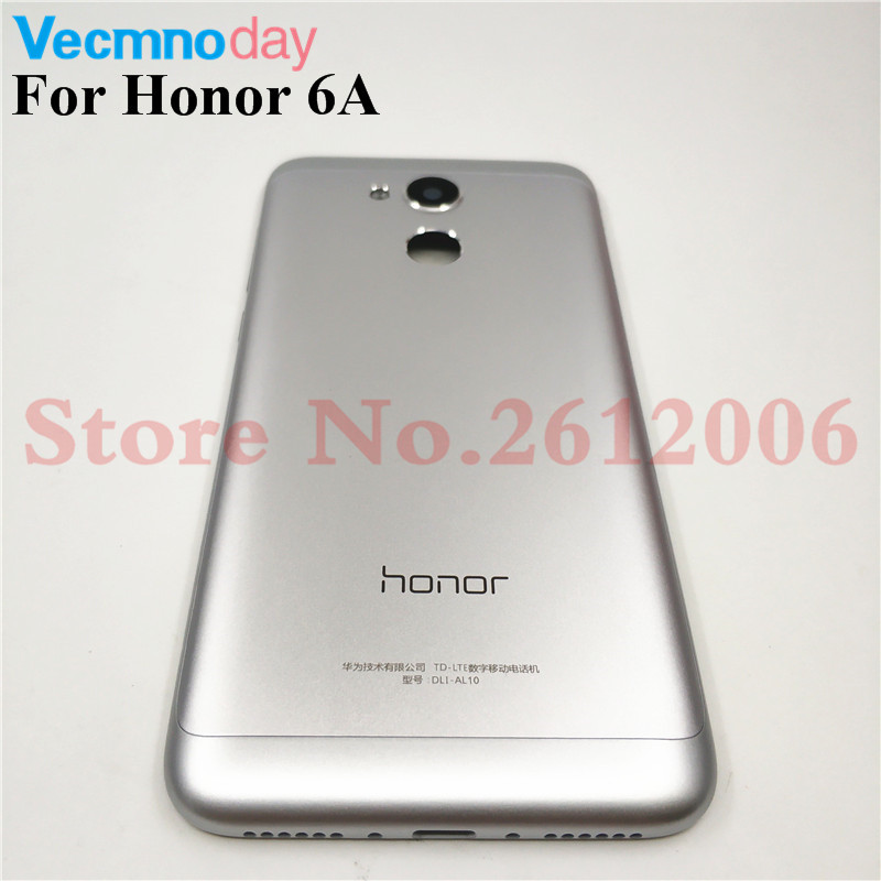 Original Rear Back Housing For Huawei Honor 6A Back Cover Battery Door Case Rear Door With Power Volume Button