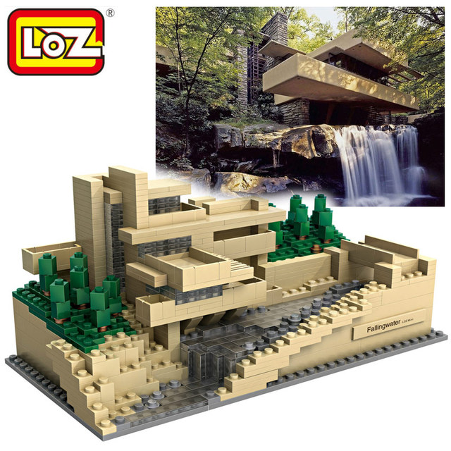 loz world famous architecture frank lloyd wright country house mini
