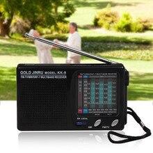 KK-9 коротковолновой Мини Черный радио беспроводной портативный Высокая Чувствительность AM/FM полный диапазон Прочный моно канал дома классические колонки