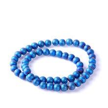 Высшее качество 8 мм натуральный камень матовые синие круглые