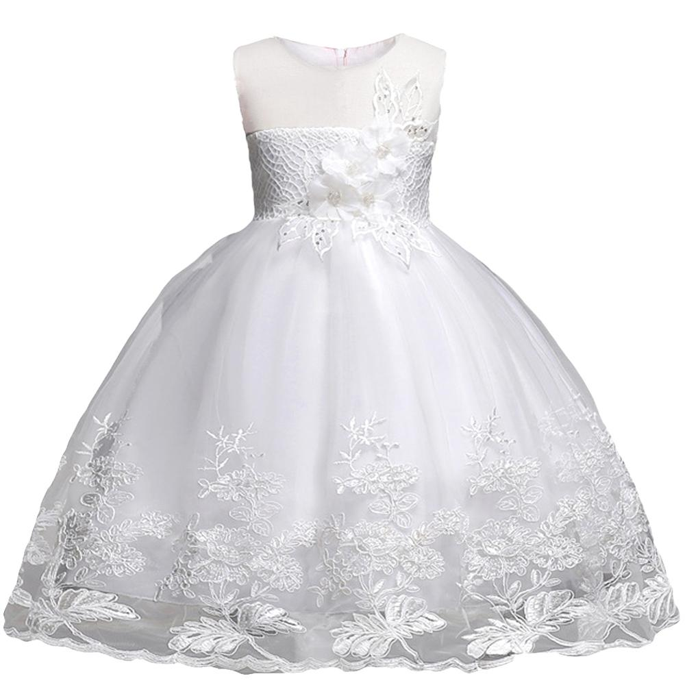 Children Clothing Girls Princess Christmas Kids Dresses For Baby Girls Infant Kids Flower Wedding Party Verstidos Dress Clothes 1