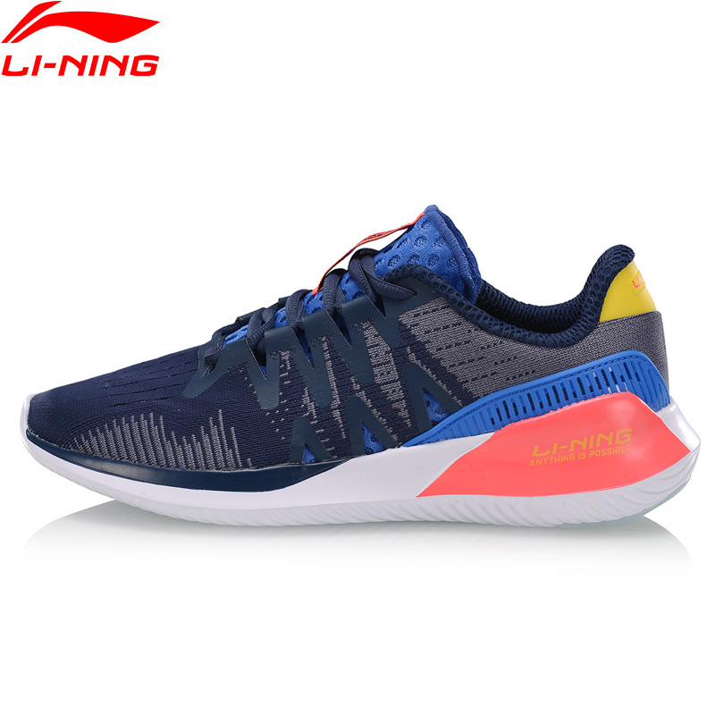 Li-Ning Men ACE RUN Cushion Running Shoes Breathable Light Hit-Color LiNing Li Ning Fitness Sport Shoes Sneakers ARHP029 XYP914