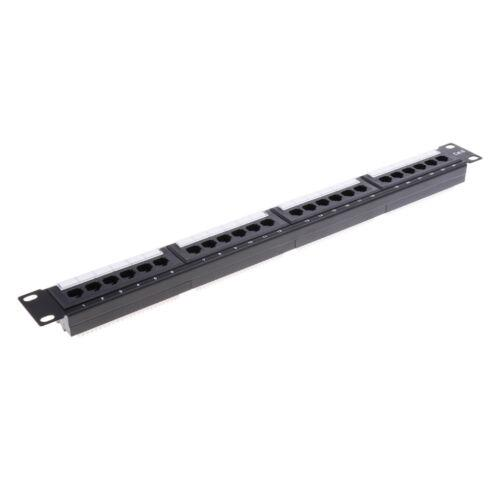 24Port 19inch Cat6 RJ45 T568A T568B Data Network Rack Mount Patch Panel Frame Good Quality