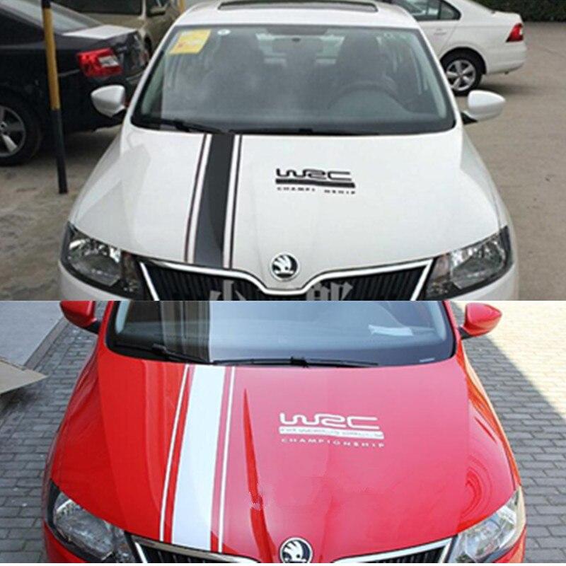 1 Stil Spor Yan Çizgili Çıkartması Sticker Skoda hızlı a5 a7 YETI Süper Citigo Fabia Octavia için