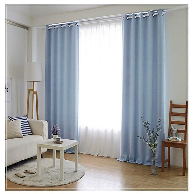 Tende camera da letto semplice colore solido personalizzato finito ...