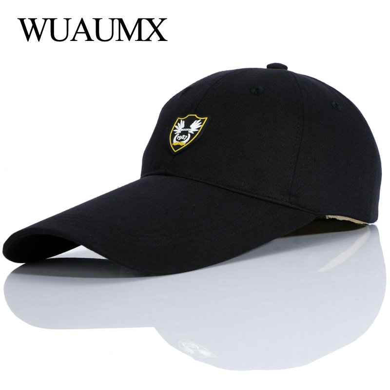 Wuaumx High Quality Spring Summer   Baseball     Caps   For Woman And Men Outdoor Sports Sun   Cap   Long Brim Peak Hat Cotton Adjustable