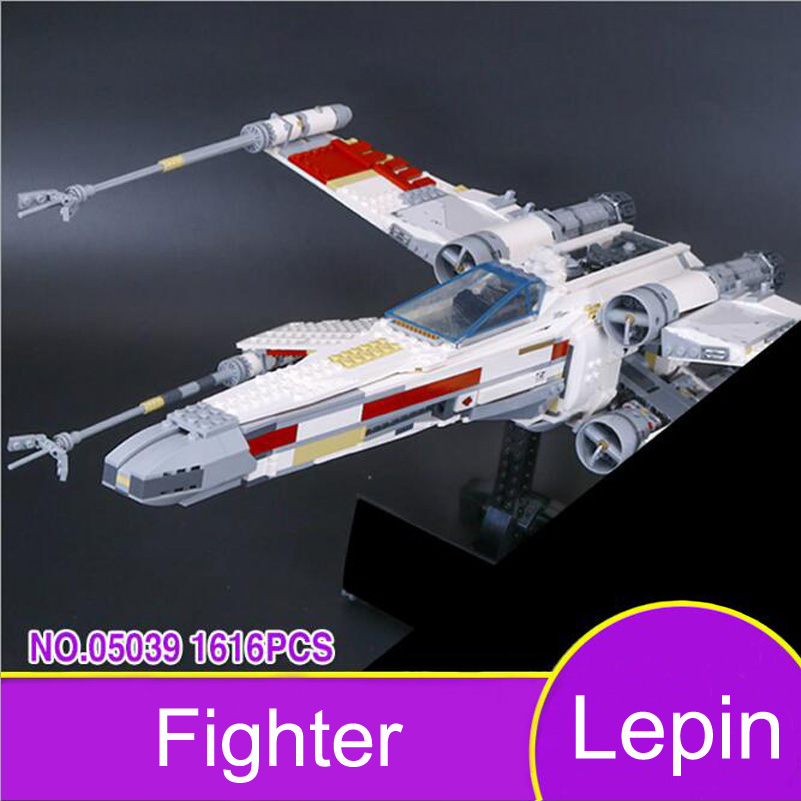 Lepin 05039 Fighter Model Building Blocks Star War Series The X UCS wing Red Five Star 1616pcs Bricks Toys Gifts For Children lepin 05060 star series wars ucs naboo star type fighter aircraft model building blocks bricks compatible legoed 10026 toy gifts