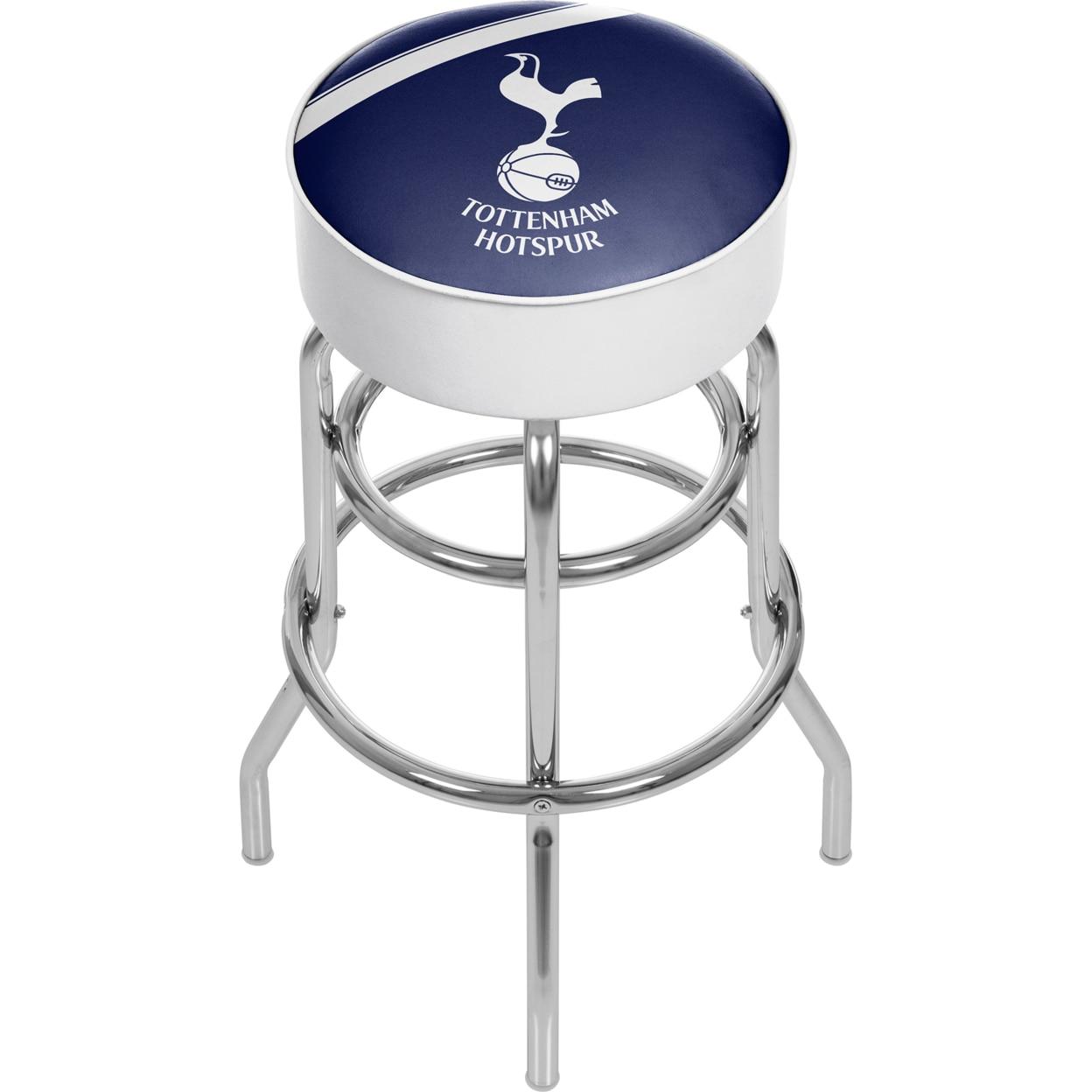 English Premier League Padded Swivel Bar Stool 30 Inches High - Tottenham Hotspurs premier league liverpool football club chrome 42 inch pub table