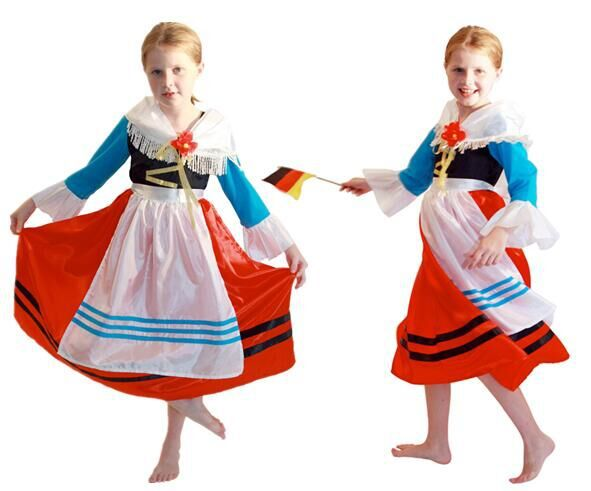 Specials On Halloween Children's Ball Costume Kids Holiday Cosplay Costume  Princess Dress  Cute German Girl Costume