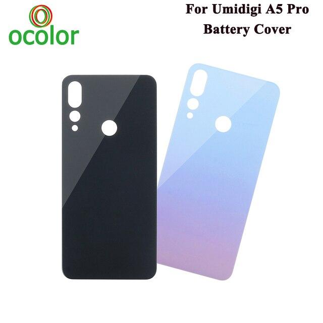 Ocolorためumidigi A5プロバッテリーカバーハードbateria保護バックカバーの交換umidigi A5プロ電話アクセサリー