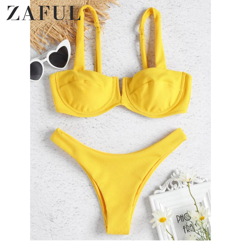 Women Bandage Bikini Crochet PushUp Padded Bra Swimsuit Bathing Suit SwimwearPDH
