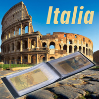 WR Home Accessory Italy Colorful Gold Banknote Set Home Decorative Quality World Paper Money Album Value Collection
