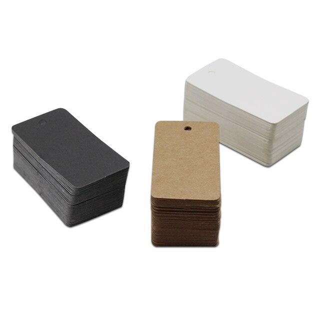Étiquettes à main en papier Kraft 2.8x5.4cm   Étiquettes à suspendre, cartes marquées de prix, cartes rectangulaires vierges, faveur pour fête de mariage, vente en gros