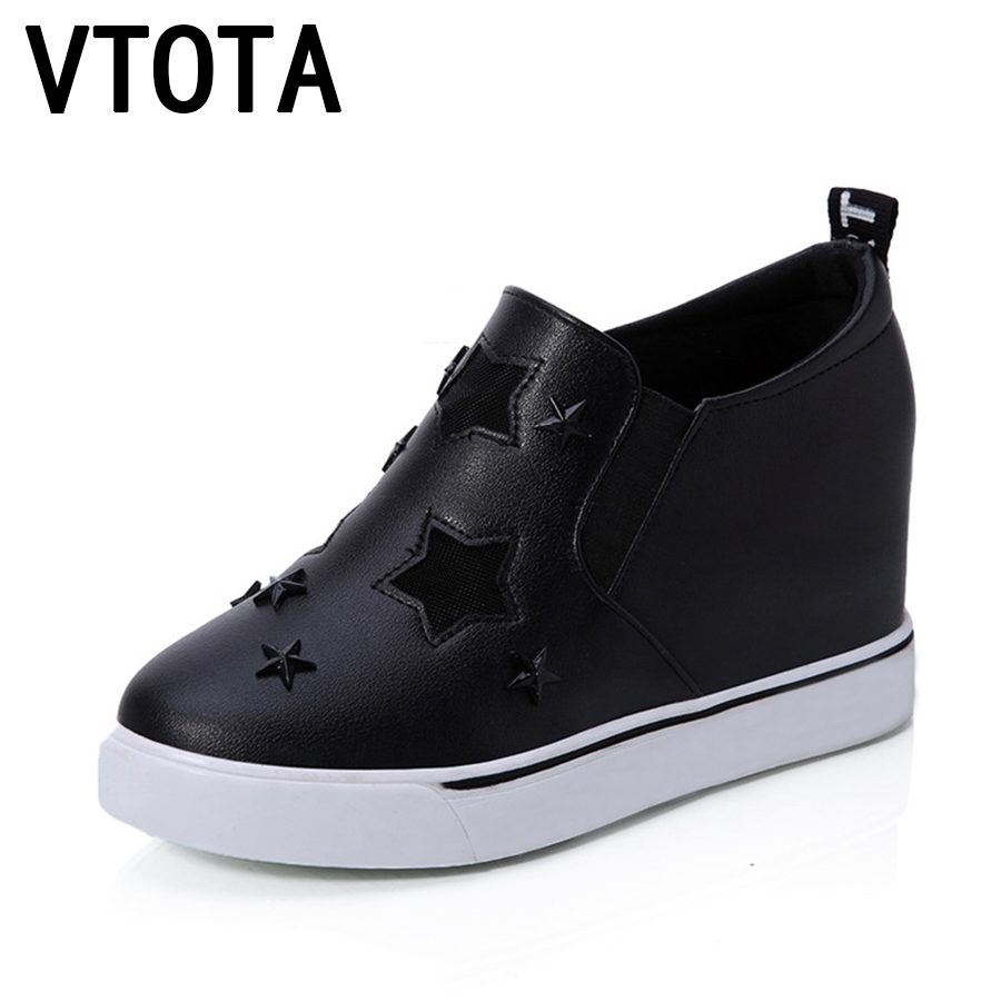 VTOTA Women Shoes 2017 Hollow Loafers Shoes Zapatos Mujer Plataforma Wedges Casual Shoes sapato feminino Summer