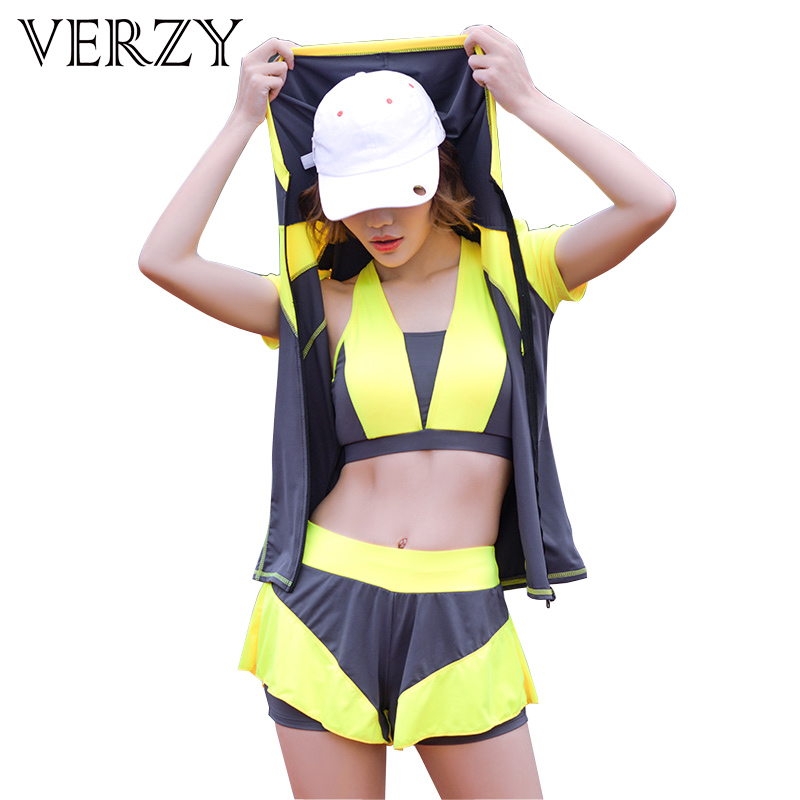 New Women Fitness Yoga Set Gym Clothes Elastic Yoga Bra Top&Pants&Shorts Sports Clothing 3 Piece 3 Patchwork Solid Color Jersey nicola jane hobbs yoga gym