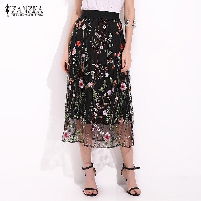 ZANZEA Women Skirts 2017 Summer Fashion Vintage Floral ...