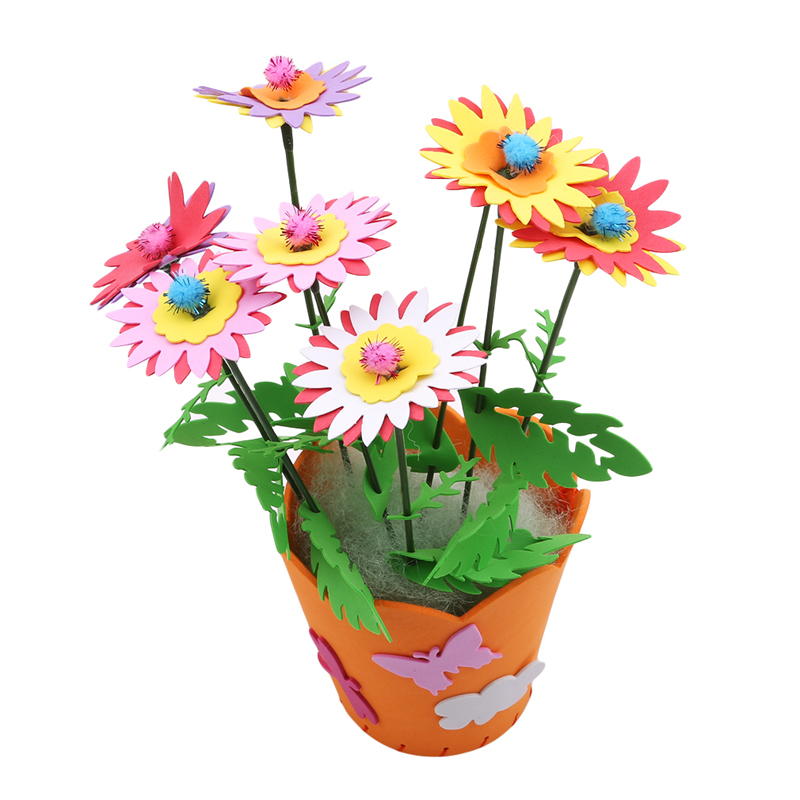 Home & Garden Festive & Party Supplies Practical Kids Children Handmade Eva Potted Plants 3 Years Old Diy Dcor Flower Craft Kits Educational Toy Moderate Cost