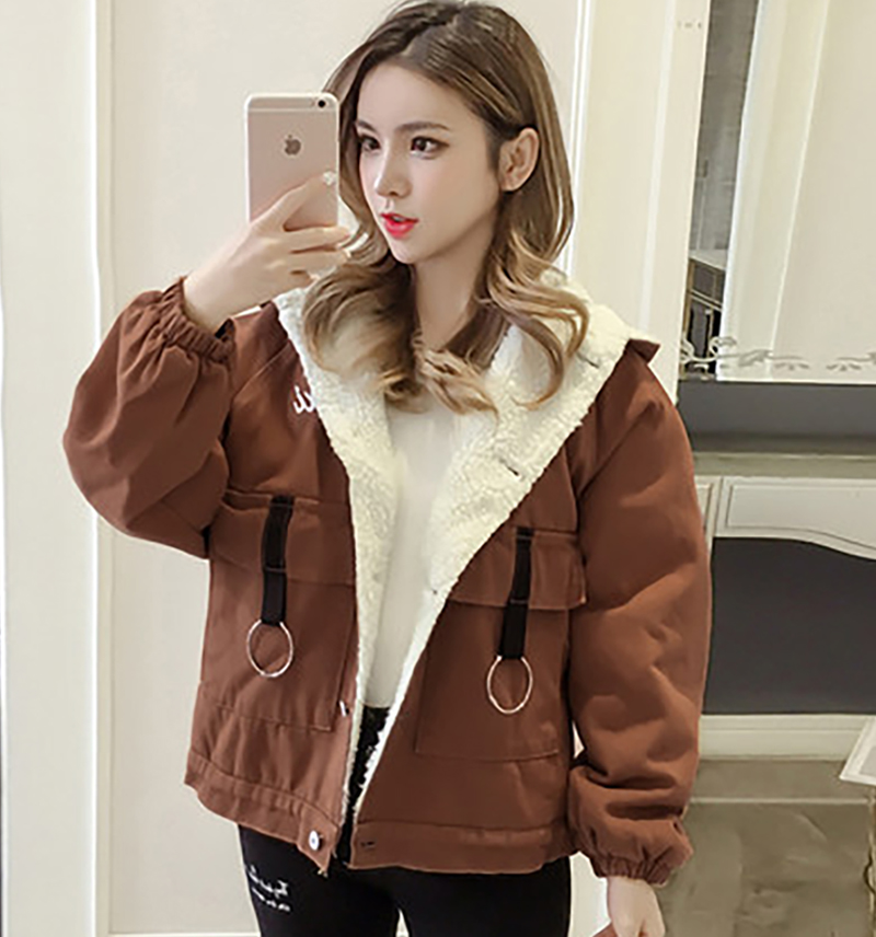 16b7944ec Thicken Korean Style Womens Loose Coats Lady Winter Parka Warm Women Coat  Bbigliamento Donna Inverno Shirt Parka Clothe Z5C797