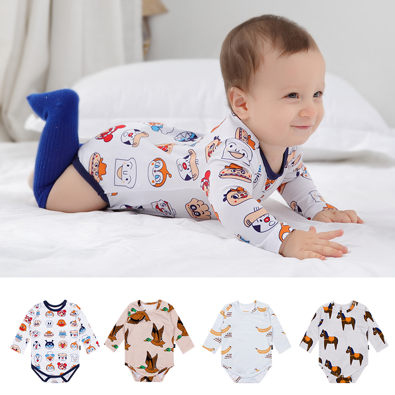 TinyPeople Bread Family Cartoon Baby Bodysuit Spring Boys Clothes Cotton Autumn Infant Onesie Newborn Jumpsuit Daddy